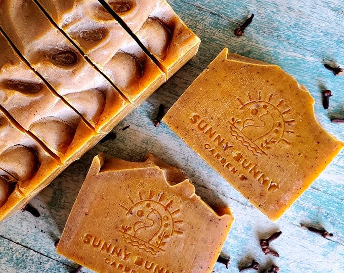 Featured listing image: Organic Pumpkin Soap, Vegan Soap Bar, Fall Soap, Autumn Soap Bar, Natural Skin Care, Organic Skin Care, Zero Waste, Self Care Soap, Gift