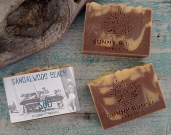 Sandalwood Bar Soap | For Him Dad Hubby Friend | Gifts for Surfers | Nostalgic Gifts |  Vegan Soap Gifts | Handmade Mens Soap Bars