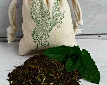 Mint Sachet | Aromatherapy | Potpourri | Bathroom Air Freshener | Drawer Sachet