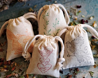 Personalized Baby Shower Favors, Scented Sachets, Custom Favors Bags, Herb Sachets, Baby Shower Sachets, Printed Favor Bags, Potpourri Bags