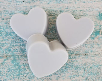 Mini Heart Soap Favors, Valentine Gift, Chamomile Lavender Soap, Organic Skin Care, Couple Gift, Wedding Soap Favors, Party Favors,Love Bath