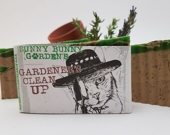 Rosemary Soap, Handmade Soap for Gardeners, Exfoliating Soap, Hemp Oil, Soap For Healthy Skin, Gift for Gardeners, Organic Soap, Kaolin Clay