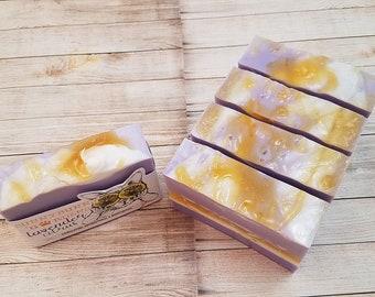 Lavender Citrus Soap Bar, Lavender Soap, Organic Lavender Citrus Soap, Handmade Lavender Soap, Natural Soap, Vegan Citrus Soap Soaps In Bulk