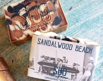 Men Soap Bar, Sandalwood Soap Bar, Organic Skin Care, Zero Waste Cosmetics, Men Skin Care, Vegan Soap Bar, Husband Gift, Natural Soap Bar
