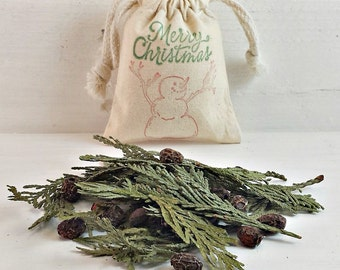 BULK Christmas Scented Sachets | Merry Christmas Potpourri | BULK Snowman Decorations | Small Gift Ideas | Holiday Scented Sachet | Xmas Bag