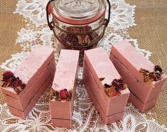 Rose Soap Bars, BULK Wedding Soap