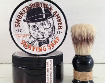 Smoked Birch Soap | Shave Soap | Dad Gift