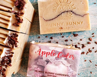 Apple Cider Soap Bar, Organic Skin Care, Vegan Soap Bar, Zero Waste Cosmetics, ACV Soap, Natural Body Care, Moisturizing Soap Bar, Handmade