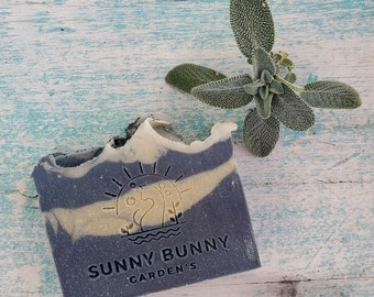 Natural Charcoal Soap Bar | Handmade Organic Lavender Soap | Sage Soap | Soap For Acne | Gifts for Him | Soap for Teens | Vegan Skin Care