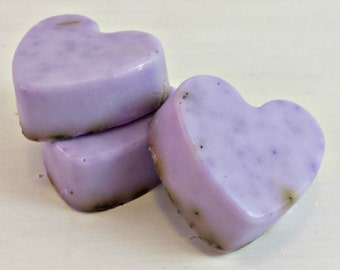 Lavender Mini Soap Favors | Mini Soaps | Heart Shaped Lavender Soaps | Bridal Favors | Small Heart Soaps | Lavender Favors | Small Gifts