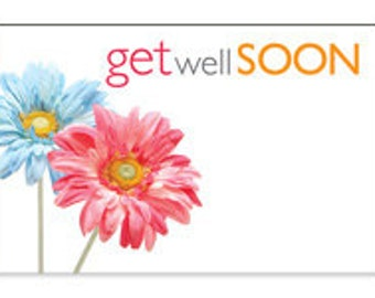 Get Well Soon Cards Enclosure Cards Get Well Soon Gift Card Get Note Card Gift Wrapping Paper Paper Party Supplies