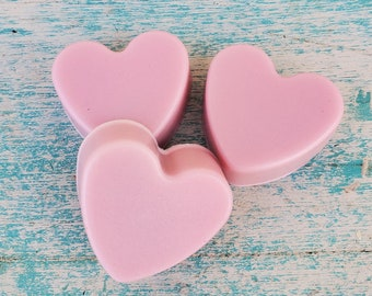 Mini Soap Favors | Chocolate Rose | Mini Soaps | Heart Shaped Blush Pink Soaps | Bridal Favors | Small Heart Soaps | Chocolate Rose Favor