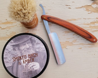 Shaving Soap For Men | Shave Soap Men | Vegan Shaving Soap | Best Shave Soap | Dad Gifts | Gift Ideas | Organic Shave Smoked Birch Amber