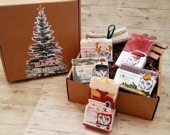 Holiday Soap Gift Box, Christmas Soap Box,