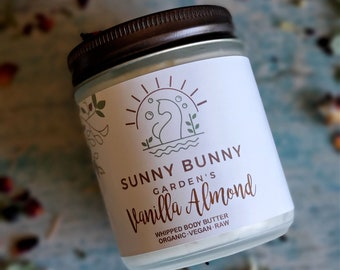 Vanilla Almond Body Butter, Winter Body Lotion, Raw Body Butter, Christmas Gift, Organic Body Butter, Natural Skin Care, Pamper Hamper