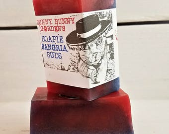 Organic Soap | Sangria Soap Bar | Sangria Scented Soap | Scented Soap Bars | Gifts for Wine Lovers | Organic Beauty | Organic Handmade Soap