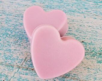 BULK 10-100 pc Chocolate Rose Soap, Mini Soap Favors, Bridal Shower Favors, Heart Shaped Soaps, Wedding Favor Soaps, Baby Shower Favors