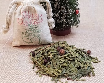 BULK Christmas Tree Decor, Christmas Favors, Herb Sachet, Seasonal Potpourri, Holiday Aromatherapy, BULK Christmas Ornament, Cedar Sachet