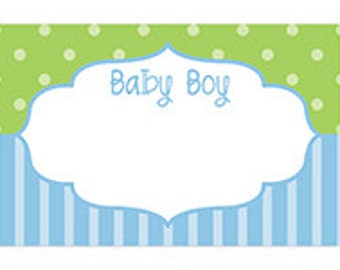 Baby Shower Gift Note Card, It's A Boy Card, Baby Boy Frame Blank Note Card, Gift Card For Baby Shower, Baby Shower For Boy, Blank Note Card