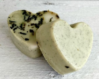 Mint Soap Favors, Vegan Soap For Party Favors, Heart Soap Favor
