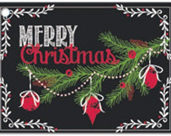 Merry Christmas Chalkboard Gift Cards Enclosure Cards Rustic Holiday Gift Card Christmas Gift Card Xmas Note Card Gift Wrapping Paper