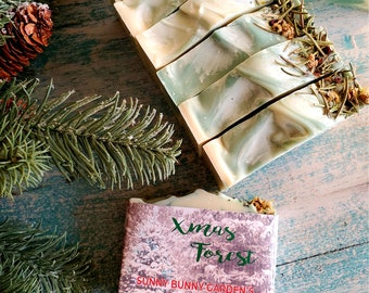 Christmas Soap Bar, Christmas Forest Soap, Organic Skin Care, Christmas Gift For Her, Natural Self Care, Vegan Soap Bar, SLS Free Soap