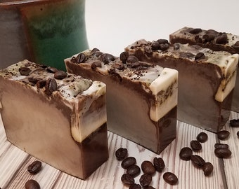 Cafe Latte Soap Bar, Bulk Coffee Soap Bar, Wholesale Coffee Soap, Espresso Soap, Wake Up Soap, Soaps In Bulk, Soap for Coffee Lovers