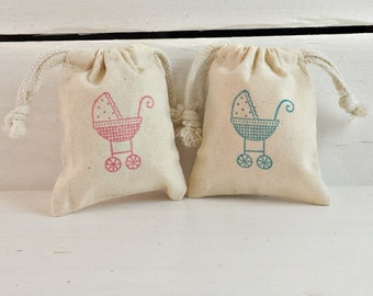 Baby Carriage Sachet Bag | Its A Girl Boy | Baby Shower Favors | Newborn Gifts