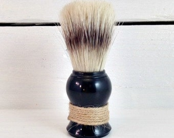 Shave Brush | Shaving Brush | Boar Bristle Shave Brush | Black Shave Brush | Mens Grooming | Old Fashioned Shave | Wet Shave