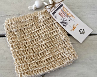 Sisal Soap Saver, Sisal, Soap Sack, Sisal Bag, Soap Cozy, Sisal Exfoliating, Soap Bag, Soap Saver, Sisal Washcloth, Bath, Spa Party, Soap
