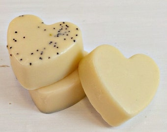 Lemon Soap Heart Soap, Soap Favors, Wedding Soap Favors, Baby Shower Soap Favors, Vegan Party Soap Favors, Guest Soaps, Thank You Favors