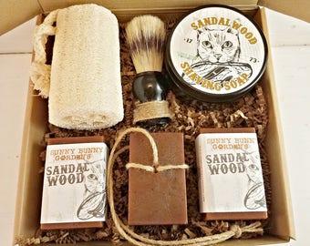 Sandalwood Shave Soap, Mens Shave Soap, Sandalwood Soap, Shaving Soap For Men, Shaving Soap Bar, Mens Shave Kit, Mens Shaving Kit
