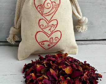 Rose BULK Wedding Favors, Rose Petal Sachets Bags, BULK Rose Scented Sachets, Rose Aromatherapy Favors, Rose Scented Drawer Sachets, Roses