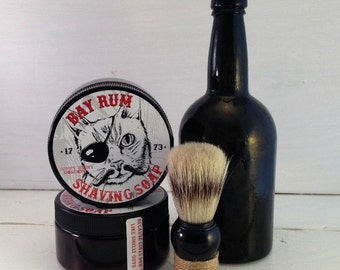 Bay Rum Shaving Soap, Homemade Mens Shaving Soap, Gifts For Men, Shaving Soap Jar, Fathers Day Gifts, Pirate Cat, Arrrr, Old Fashioned Shave