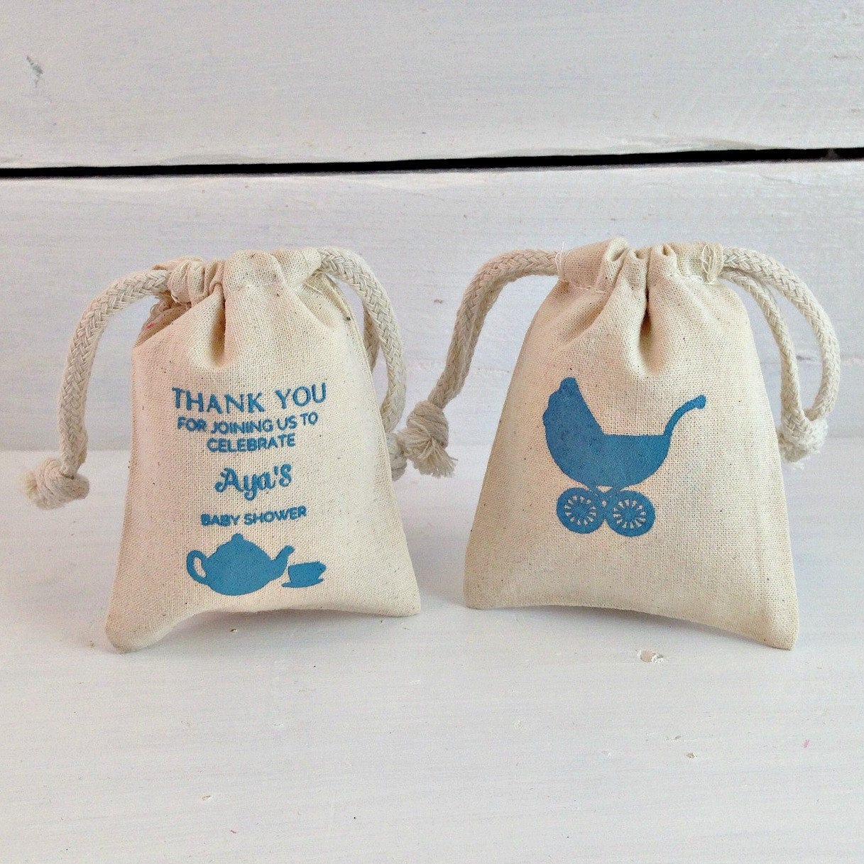 Personalized Sachet Favor Bag Custom Baby Shower Favors Stamped