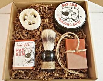 Bay Rum Shaving Soap, Bay Rum Man Soap, Soap On A Rope For Men, Shaving Soap Bar, Shaving Soap Kit, Shaving Gift Set, Unique Mens Gifts