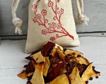 Apple Cinnamon Sachets | BULK Apple Sachet Favors | BULK Aromatherapy Sachet Bags | Apple Cinnamon Scented Sachet | Cherry Blossom Sachet