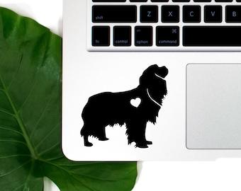 Cavalier King Vinyl Decal, Best Friend Gift, Cute Stickers, Dog Stickers, Pet Stickers, Laptop Stickers, Macbook Decal, Water Bottle Sticker