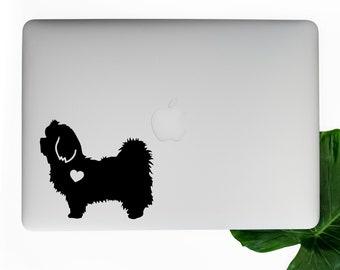Maltese Vinyl Decal, Laptop Decals, Car Window Stickers, Dog Stickers, Best Friend Gift, Macbook Decal, Water Bottle Sticker