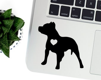 Pit Bull Vinyl Decal, Best Friend Gift, Cute Stickers, Dog Stickers, Pet Stickers, Laptop Stickers, Macbook Decal, Water Bottle Stickers