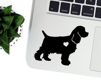 Cocker Spaniel Vinyl Decal, Best Friend Gift, Cute Stickers, Dog Stickers, Car Decal, Laptop Stickers, Macbook Decal,