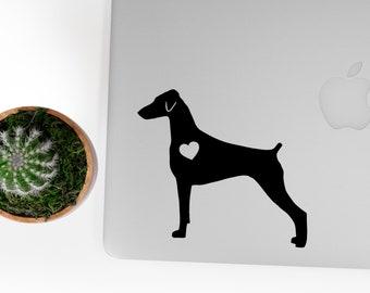 Doberman Pinscher Natural Ears sticker doberman decal natural ears Car Laptop Vinyl Decal Sticker
