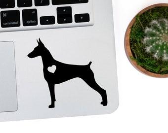 Doberman Pinscher Vinyl Decal, Best Friend Gift, Cute Stickers, Dog Stickers, Pet Stickers, Laptop Stickers, Macbook Decal, Water Bottle