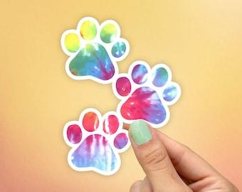 Tie dye Paw Mini Sticker