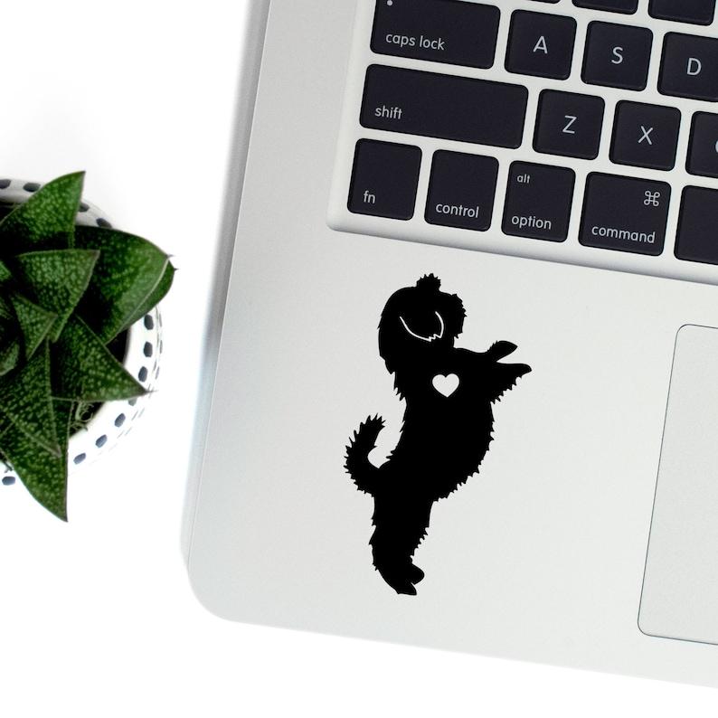 Shih Tzu Vinyl Decal Best Friend Gift Cute Stickers Dog image 0