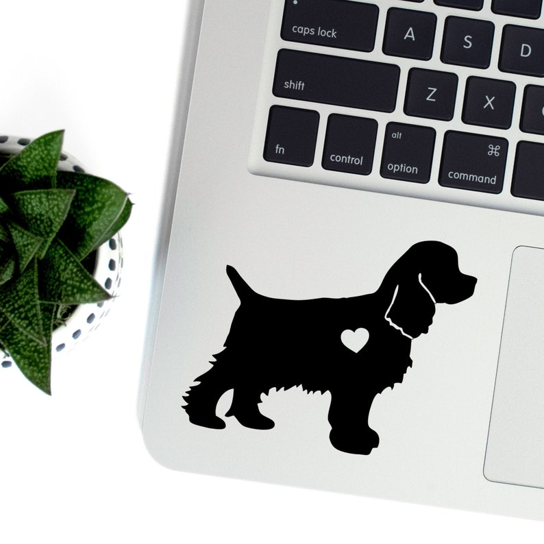 Cocker Spaniel Vinyl Decal Best Friend Gift Cute Stickers image 0