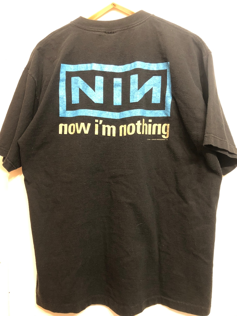 VINTAGE Licensed Nine Inch Nails Pretty Hate Machine Double-Sided T-Shirt