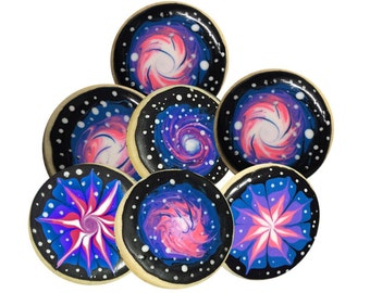 12 Galaxy Sugar Cookies