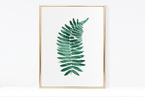 Fern wall art office wall art jungle leaves art modern | Etsy