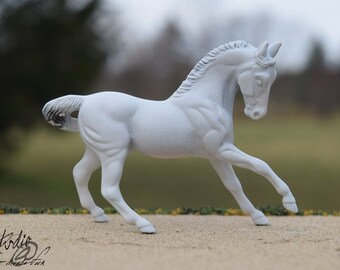 Custom Portrait Model of Your Real or Dream Horse, Stablemate Scale Cantering Horse, Body #17 (Breyer)